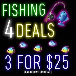 BUNDLE 3 fishes on the hook 🎣 for 3 for $25 deal✅